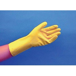 FLOCK-LINED LATEX GLOVES